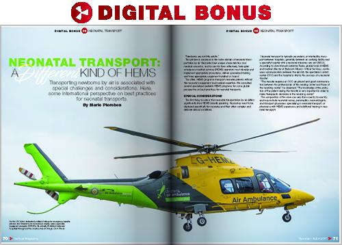 DIGITAL BONUS: Neonatal Transport: A Different Kind of HEMS