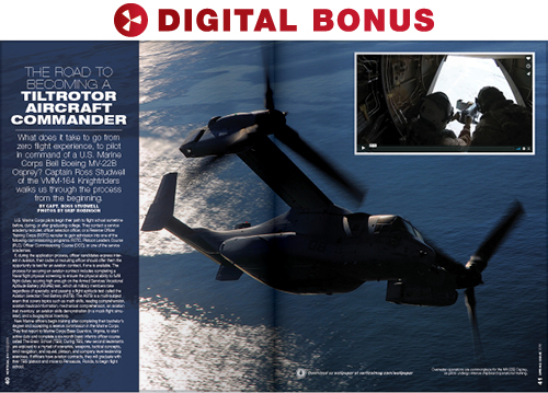 The road to becoming a tiltrotor aircraft commander