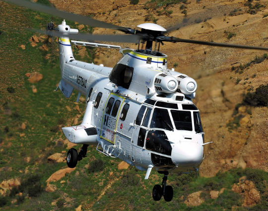 The H215 combines the advanced avionics and digital autopilot of the H225 with the proven AS332 airframe, providing a unique combination of capabilities for the utility market. Photos by Skip Robinson