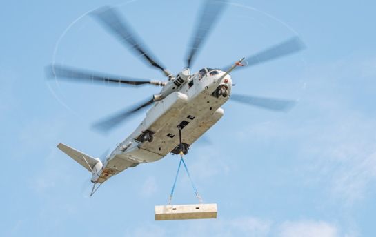 The CH-53K King Stallion has successfully performed an out-of-ground-effect external load test with a 27,000-pound payload. Lockheed Martin Photo