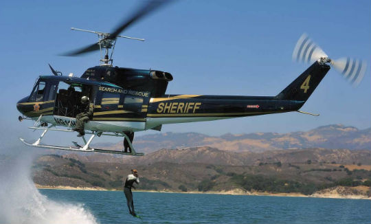 Utility helicopters distributed through the 1033 program have allowed some law enforcement agencies to expand their public service capabilities to missions such as firefighting and search-and-rescue.