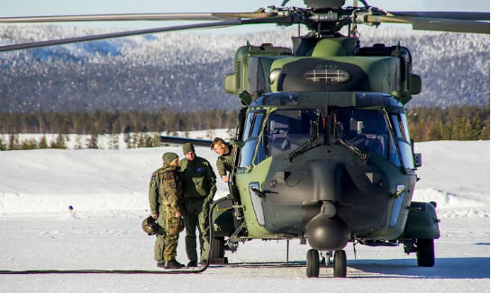 Six NH-90 helicopters and their crews from the Finnish Defence Forces also took part in Cold Blade 2016. Johannes Heyn Photo