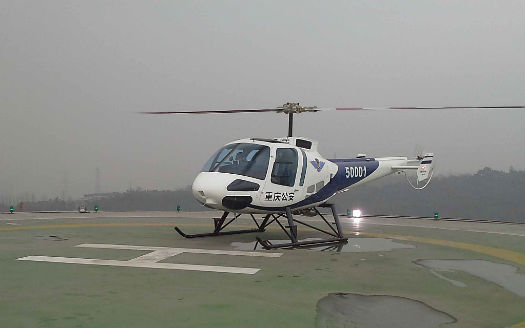 Enstrom is positioning itself for future growth in China, southeast Asia and other emerging markets. Shown here is the first Enstrom 480B in China with a police operator. Enstrom Photo