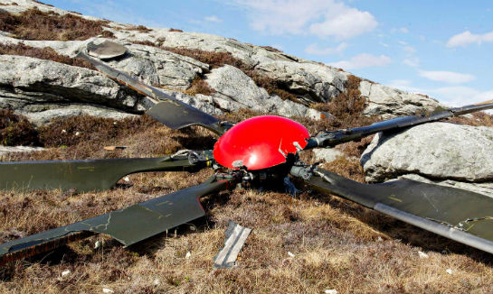 At the crash site, investigators found the main rotor a hundred meters from the fuselage.