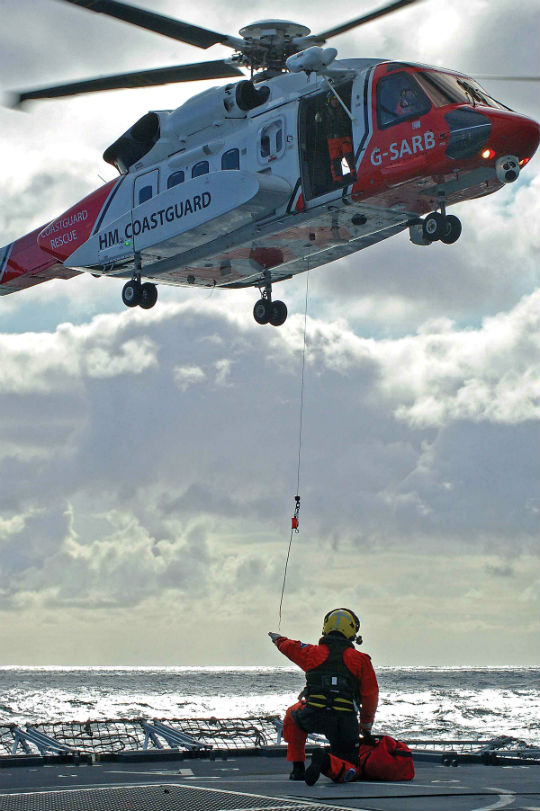 Bristow began its 10-year U.K. SAR contract in April 2015. Search-and-rescue is one of the sectors that offers offshore operators an opportunity to offset the decline in oil-and-gas revenues. Mark Connell Photo