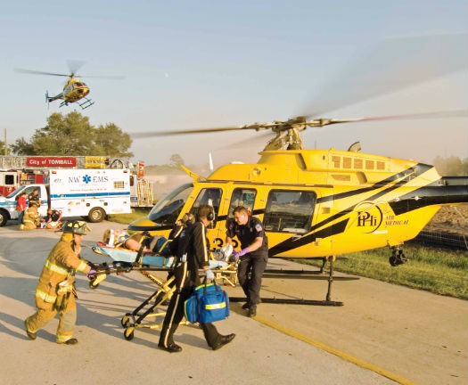 """According to Research 360, PHI Air Medical's average charge per transport for privately insured patients now exceeds $40,000 in some states. A Texas Administrative Law Judge recently ruled that PHI's billed charges in a number of workers' compensation cases are not """"fair and reasonable,"""" and that the company is entitled to only 149 percent of the Medicare rate. Sheldon Cohen Photo"""