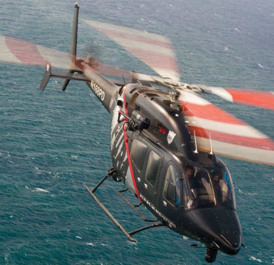 This Bell 429 is one of three operated by the Puerto Rico Police FURA aviation unit, and is a fine example of Ecolift Corporation's custom completion and paint capabilities. The paint scheme, also developed by Ecolift, won Vertical Magazine's Best Liveries contest in 2015.