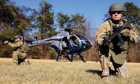 Moving tactical teams into remote areas is another one of ASU's missions. The helicopter will provide top cover during any of these operations.