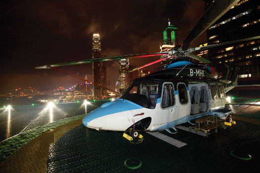 Macau-based Sky Shuttle Helicopters flies a fleet of AgustaWestland AW139s. AgustaWestland Photo