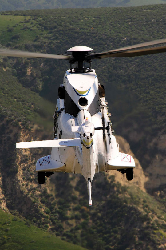 The H215 uses the same Turbomeca Makila 1A1 turboshaft engines found on the AS332 C1 and L1.