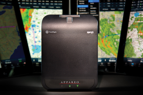 The new Appareo Stratus is the result of a combined effort between Appareo Systems, ForeFlight LLC and Sportys Pilot Shop. Appareo Photo