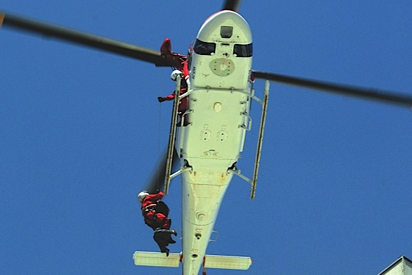 In May, three helicopters were involved in a dramatic high-rise rescue mission in Mexico City. El Universal PhotoE