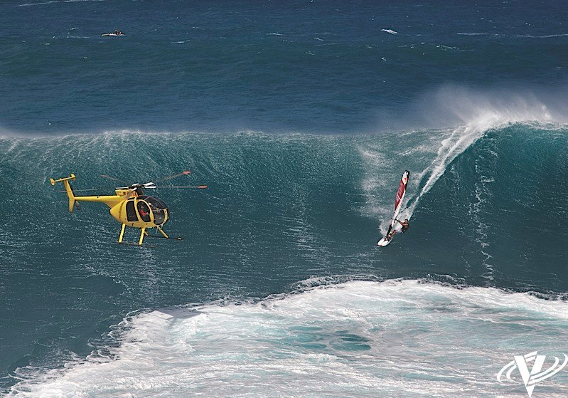 When it comes to aerial surf filming, Don Shearer of Windward Aviation has no peers. Photos by Bob Bangerter