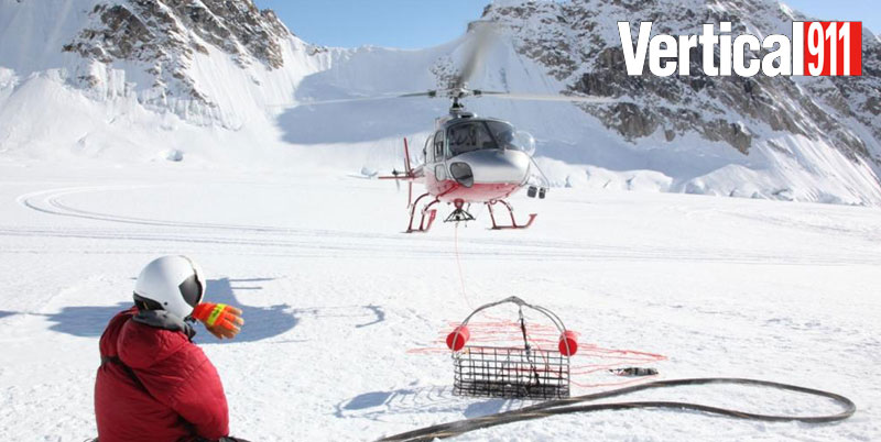 The TEMSCO B3 AStar prepares for a short-haul mission in this National Park Service file photo. The helicopter provides a variety of mission support for Denali National Park and Preserve, in addition to conducting search and rescue operations. NPS Photo