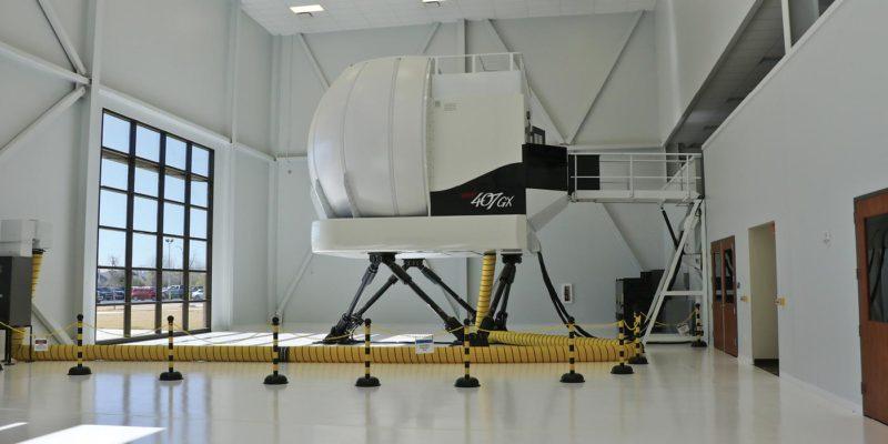 Testing out the Frasca Bell 407GX full flight simulator
