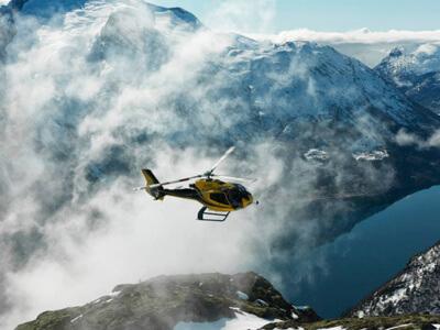Fjord Helikopter EC130 B4 in Norway.