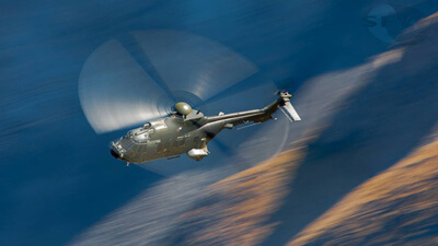 Super Puma over the Axalp range.