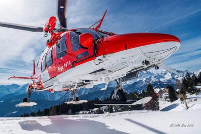 Rega ski slope takeoff.