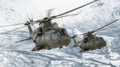 A pair of Mk3 Merlins on exercise in Norway.