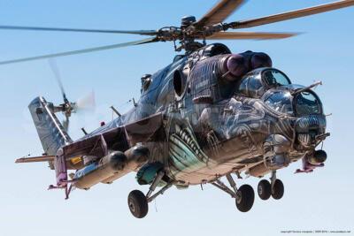 Mil Mi-24 at Tigermeet 2016 in Zaragoza
