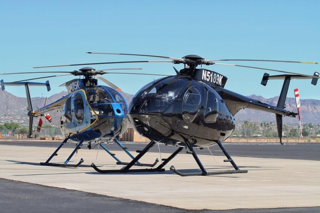 Two MD Helicopters