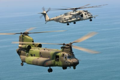 Marine Heavy Helicopter Squadron 462 flies with a CH-147F Chinook