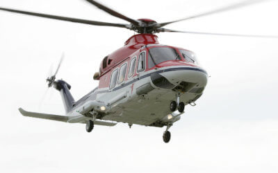 Flights supporting the operation from CHC's base in Den Helder using AW139s began in the beginning of January 2017. Leonardo Photo
