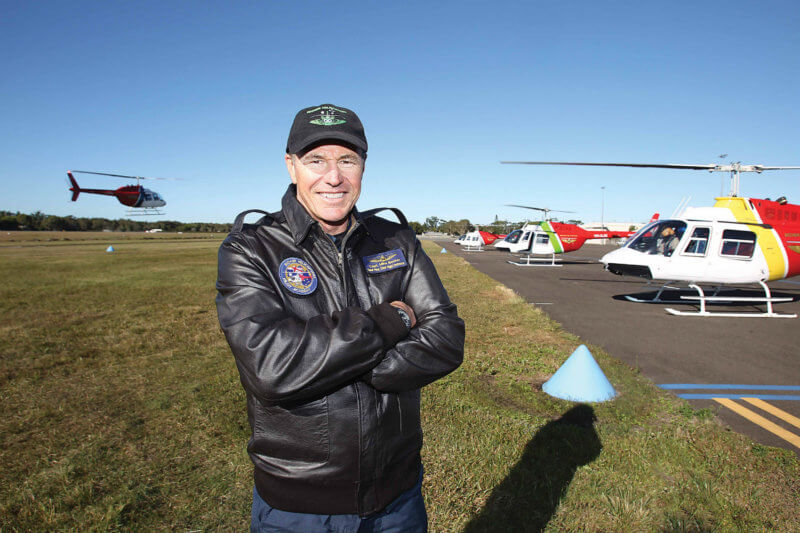 Mike Becker, co-founder, chief pilot, and chief flying instructor of Becker Helicopters