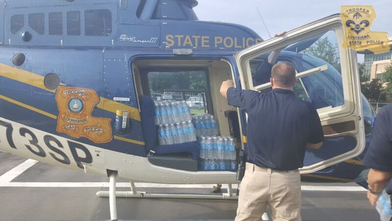 A Louisiana State Police helicopter