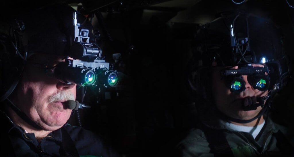 ASU hopes to play a key role in standardizing night vision goggle procedures and practices in Europe. ASU Photo
