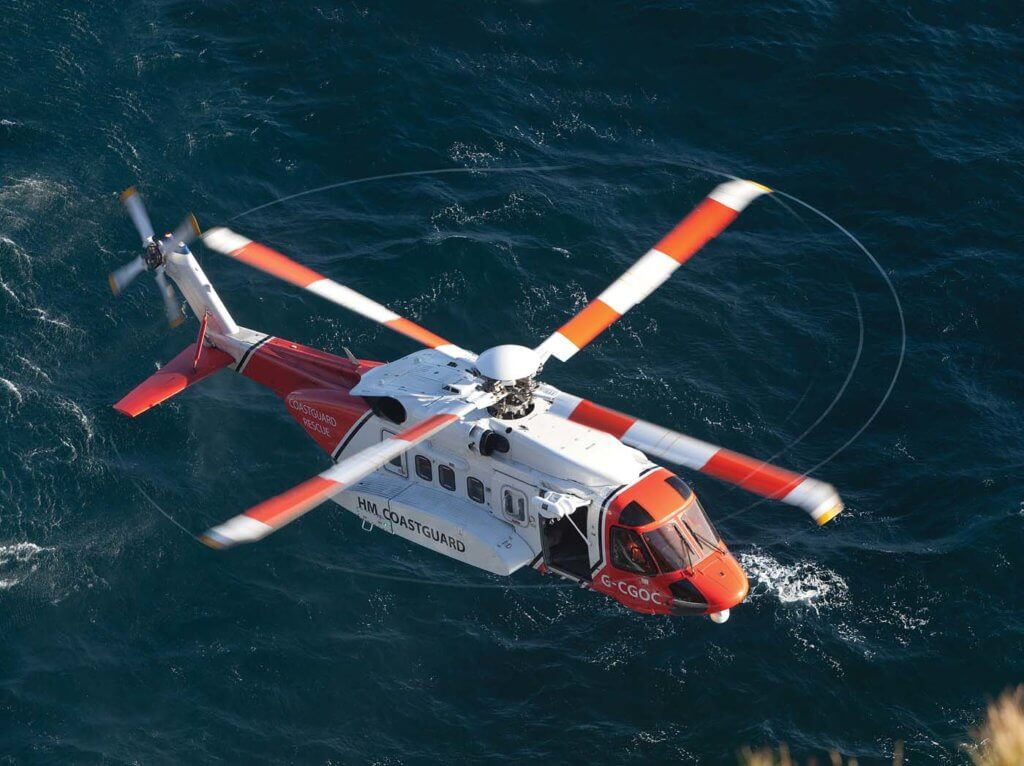 Bristow assumed responsibility for search and rescue operations within the United Kingdom-S-92