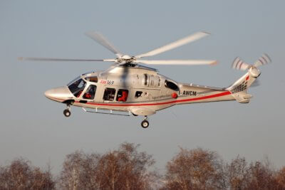 AW169 helicopter in flight