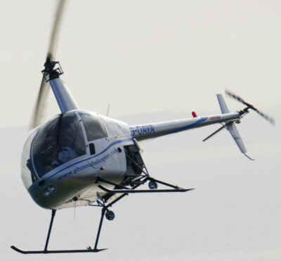 Helicopter in flight.