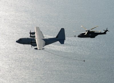 A Leonardo AW101 Merlin Mk3 conducts an air-to-air refueling trial. Photo submitted by Simon Pryor