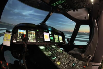 A Toll Helicopter training center at Bankstown Airport.