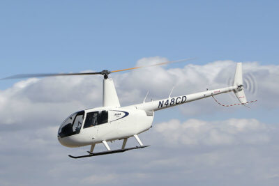 Robinson R44 Cadet in flight