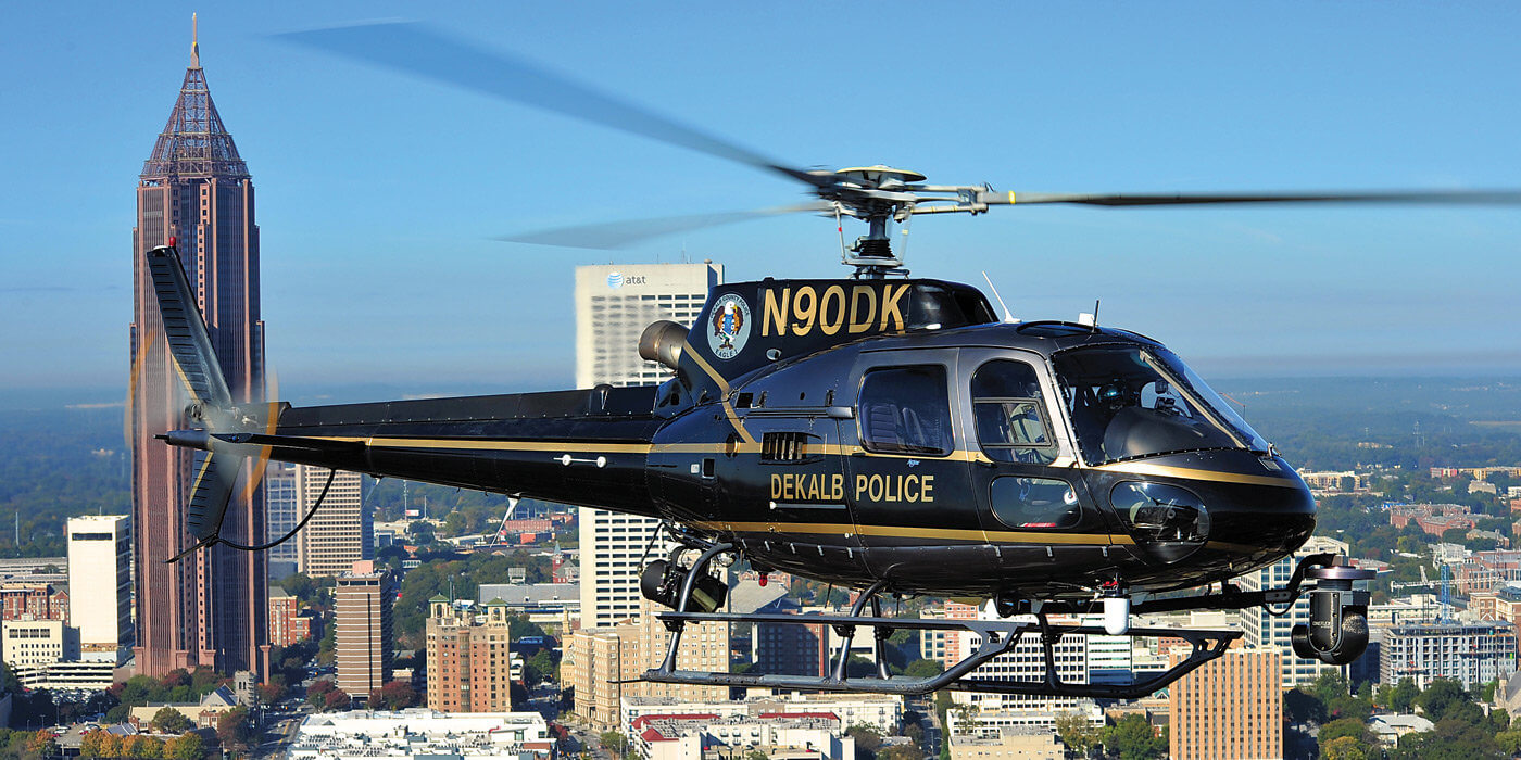 The DeKalb Police Aerial Support Unit covers a large area, and when requested will help around downtown Atlanta. Skip Robinson Photos