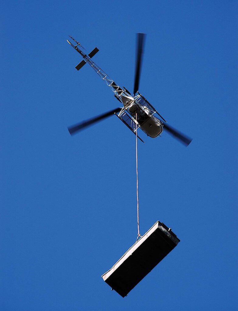 The Lama could sling loads of up to 2,205 pounds to places a much larger helicopter could not venture.