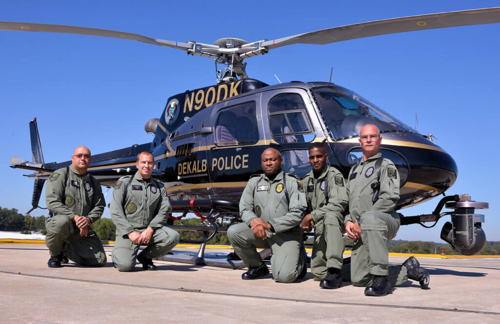 From left, TFO B.A. Spradling, pilot L.E. Vulb, Sgt. Chief Pilot D.S. Williams, TFO C.A. Inges, and pilot D.B. Veasey.