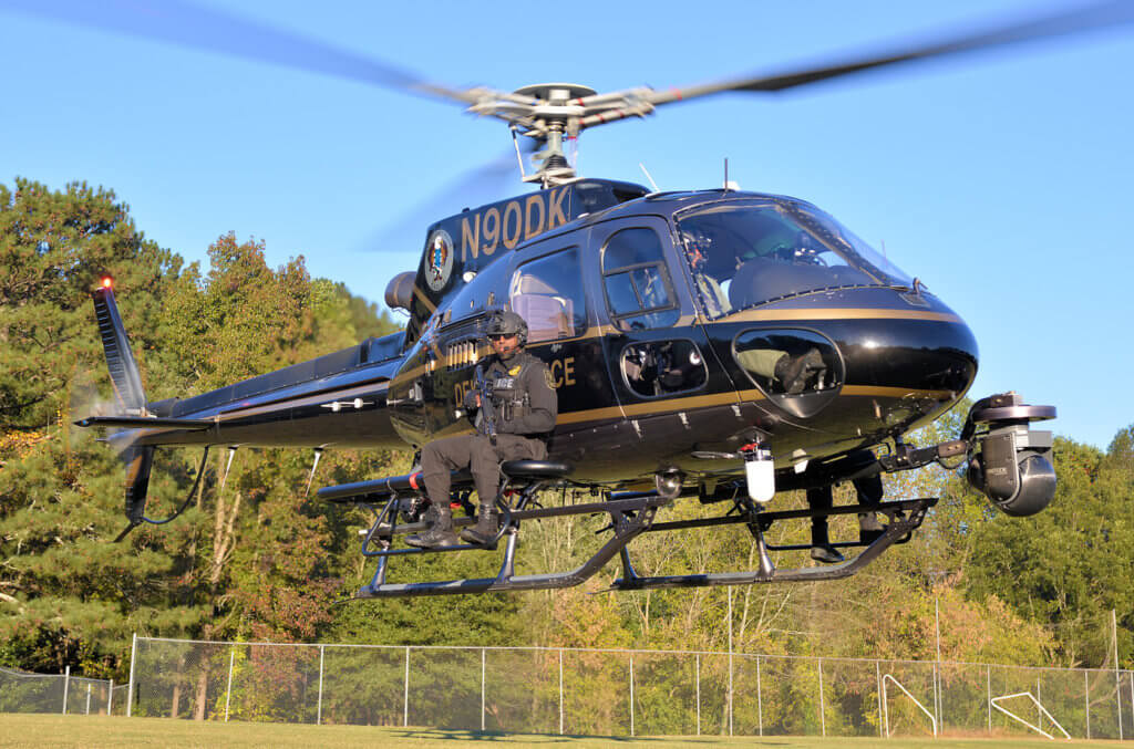 The Aerial Support Unit works with DeKalb Police special operations teams at least a few times a year.