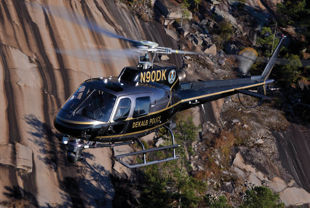 Flying two well-equipped AS350 B2s, DeKalb feels it now has a capable airframe, but looks forward to a new H125 for additional capability.