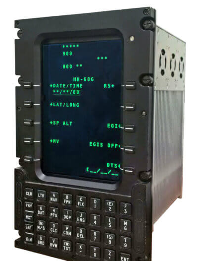 The CMA-2082M is an intelligent, self-contained multifunction control and display unit that integrates and provides centralized control of navigation sensors, communications radios, displays, mission avionics and aircraft systems. Esterline Photo