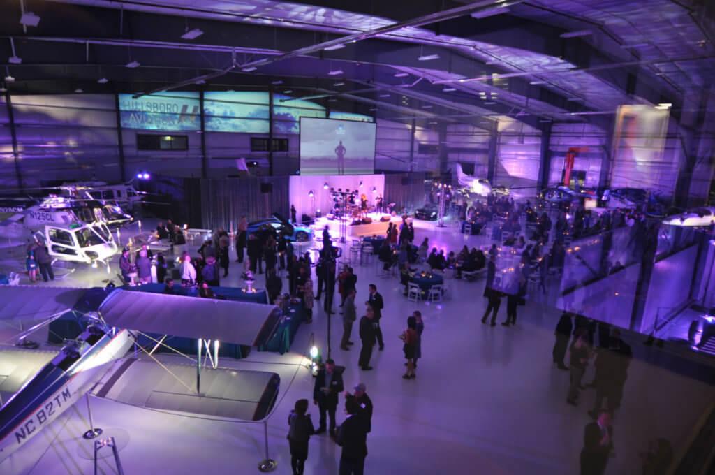Interior view of Hillsboro Aviation's new hangar.