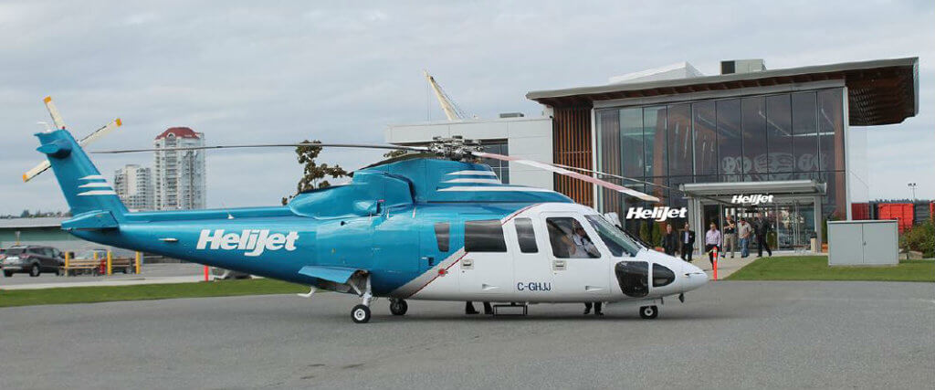 The expanded service between Nanaimo Harbour Heliport (pictured here) and Vancouver Harbour locations will see Helijet offer three roundtrips a day on Saturdays and Sundays. Helijet Photo