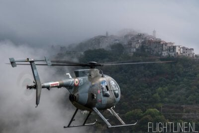 An Italian TH-500 from 72° Stormo flying close to the mountain village of Acuto. Photo submitted by Erik Bruijns