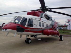 The prospective multirole Mi-171A2 is designed with the use of best modern technologies and meets all aviation industry's safety requirements and environmental standards. Modern avionics allows the helicopter to operate day and night, in adverse weather conditions, and to fly over water. Russian Helicopters Photo