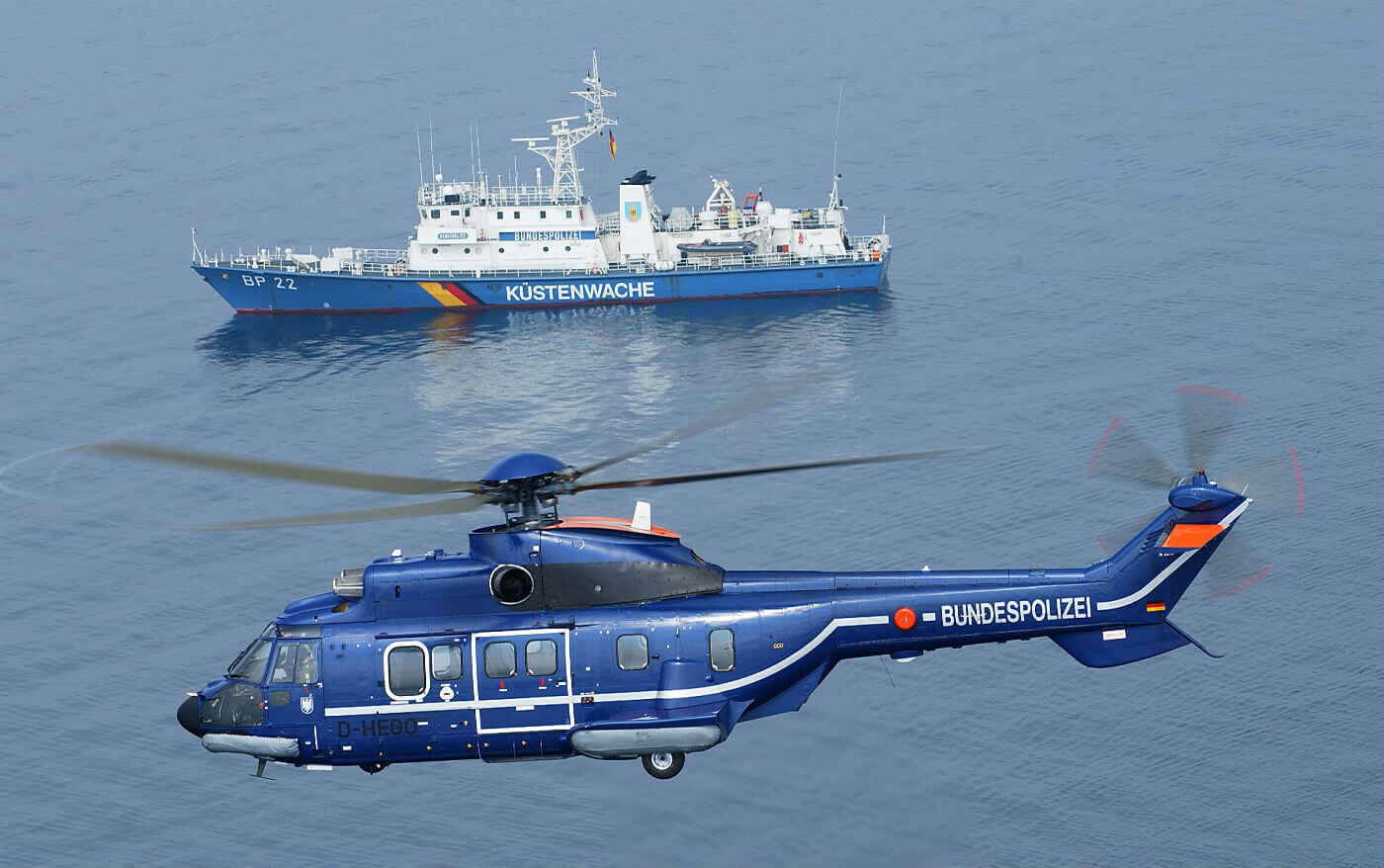 Bundespolizei's three Airbus Helicopters H215 multirole aircraft are tasked with a number of challenging roles; including maritime emergencies and police missions. Airbus Photo