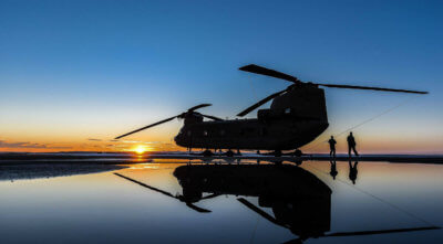 A U.S. Army Chinook photographed in Grande Prairie, Alberta. Photo submitted by William Vavrek