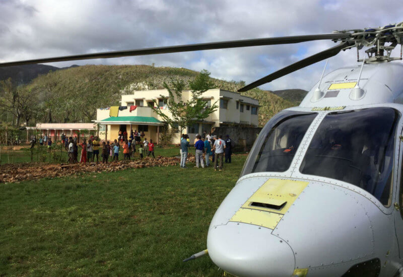 The accident helicopter was a Canadian-registered Bell 429 that Bell Helicopter was operating in Haiti at its own expense. Airlink Photo