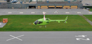 The Bell 505 is being marketed to a range of sectors including corporate/VIP, tourism, and utility. It is seen here at Bell Helicopter's Mirabel facility. Kenneth I. Swartz Photo